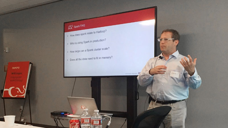 James Casaletto giving an introduction to Apache Spark